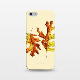 iPhone 5/5E/5s  Ink Watercolor Painted Autumn Leaves Nature Lover by