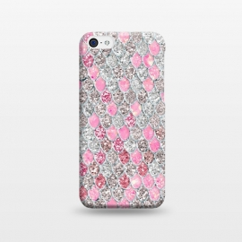 iPhone 5C  Rose Gold and Silver Sparkling Mermaid Scales  by Utart