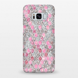 Galaxy S8+  Rose Gold and Silver Sparkling Mermaid Scales  by Utart