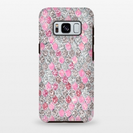 Galaxy S8 plus  Rose Gold and Silver Sparkling Mermaid Scales  by