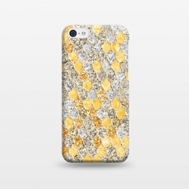iPhone 5C  Gold and Silver Sparkling Mermaid Scales by Utart
