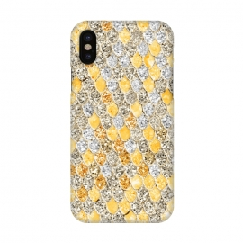 iPhone X  Gold and Silver Sparkling Mermaid Scales by