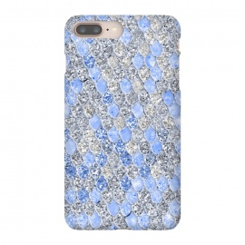 iPhone 8/7 plus  Blue and Silver Sparkling Mermaid Scales by Utart