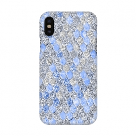 iPhone X  Blue and Silver Sparkling Mermaid Scales by Utart
