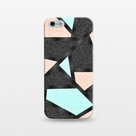 iPhone 5/5E/5s  Geometric blue black by Jms
