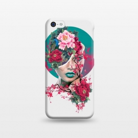 iPhone 5C  Glamor by Riza Peker (woman,peony,red,flowers,art)