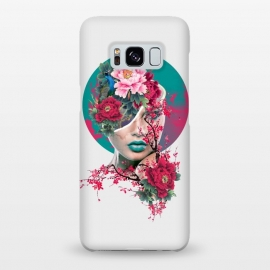 Galaxy S8+  Glamor by Riza Peker (woman,peony,red,flowers,art)