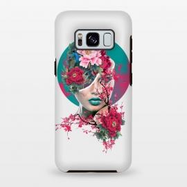 Galaxy S8 plus  Glamor by  (woman,peony,red,flowers,art)