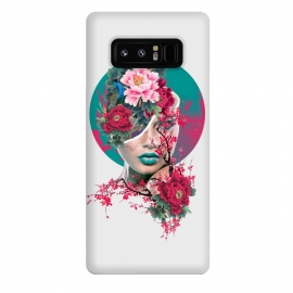 Galaxy Note 8  Glamor by  (woman,peony,red,flowers,art)