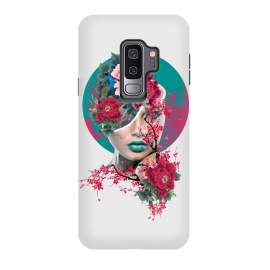 Galaxy S9 plus  Glamor by  (woman,peony,red,flowers,art)
