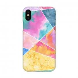 iPhone Xs / X  Watercolor Geometric by Creativeaxle