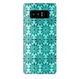 Galaxy Note 8  Majorelle by Heather Dutton (geometric,geo,pattern,patterns,graphic design,aqua,aquamarine,blue,turquoise,flower,floral,boho,bohemian,design,print)