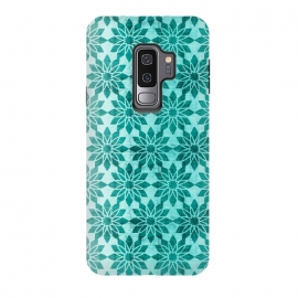 Galaxy S9+  Majorelle by Heather Dutton (geometric,geo,pattern,patterns,graphic design,aqua,aquamarine,blue,turquoise,flower,floral,boho,bohemian,design,print)
