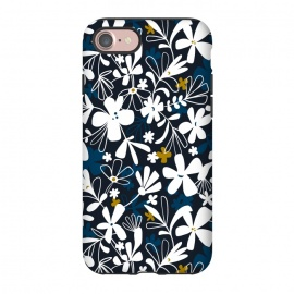 iPhone 8/7  Eloise by Heather Dutton (floral,floral print, floral pattern, flower, flowers,nature, nature inspired, summer, blue,illustration,graphic design,design,feminine,navy,navy blue,garden,retro, vintage,vector)