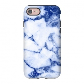iPhone 8/7  Blue Veined Glitter Marble by Utart