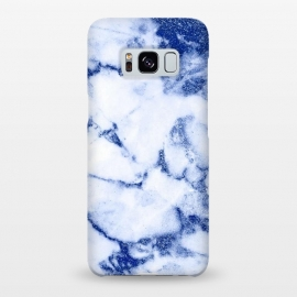 Galaxy S8+  Blue Veined Glitter Marble by Utart