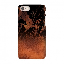 iPhone 8/7  Copper Gold and Black Marble  by Utart
