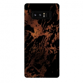 Galaxy Note 8  Copper Metal Veined Marble by Utart