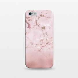 iPhone 5/5E/5s  Rose Gold Glitter Marble Blush by