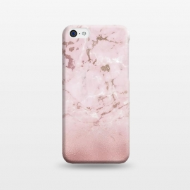 iPhone 5C  Rose Gold Glitter Marble Blush by Utart