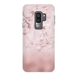 Galaxy S9+  Rose Gold Glitter Marble Blush by Utart (Stylish, Ombre, Girly, Marble, Marbled, Nature, Texture, Geode, Terrazzo ,Metallic, Scandi, Bohemian, Boho, Scandinavian, stone, crystal,quartz, gemstone, gem, granite, shimmer, shimmery, shiny, metallic, trendy, girly, simply, simple, glitter, chrystal, ink ,malachite, agate,metal foil,summer,sprin)