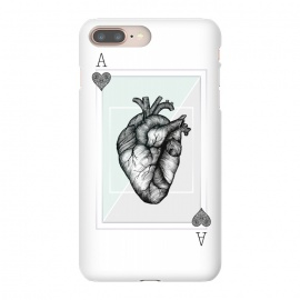 Ace of Hearts by Barlena (ace of hearts, playing cards, pink, grey, heart, ace, human heart)