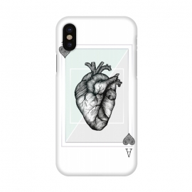 iPhone X  Ace of Hearts by Barlena
