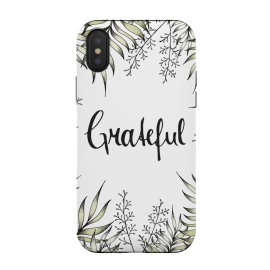 Grateful by Barlena (Leaves, Foliage, Illustration, Drawing, Greenery, Green, Garden, Leaf, Exotic, Tropical, Grateful, Typography, Handlettering, Plants, Fresh, Nature)