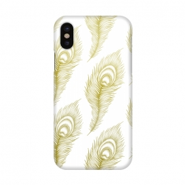 iPhone X  Peacock Feathers by