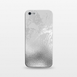 iPhone 5/5E/5s  Silver Marble and Glitter Foil by Utart