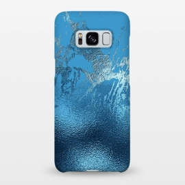 Galaxy S8+  Blue Metal and Marble  by Utart