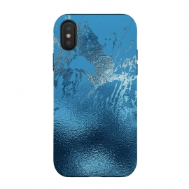 iPhone Xs / X  Blue Metal and Marble  by Utart