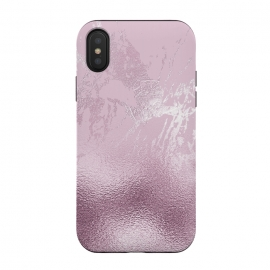 iPhone Xs / X  Blush Marble and Glitter by Utart