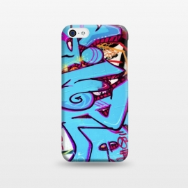 iPhone 5C  Blue Graffiti Tag by Andrea Haase