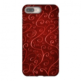 Whimsical Elegant Textured Red Swirl Pattern by Boriana Giormova