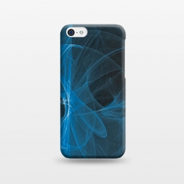 iPhone 5C  Blue Light Fractals On Black by Andrea Haase
