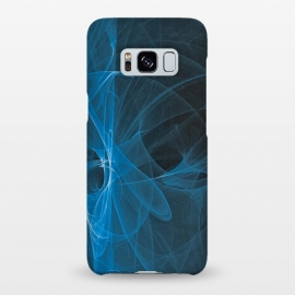 Galaxy S8+  Blue Light Fractals On Black by Andrea Haase