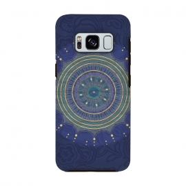 Galaxy S8  Blue Mandala With Gold by Andrea Haase