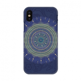 iPhone X  Blue Mandala With Gold by Andrea Haase