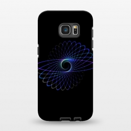Galaxy S7 EDGE  Spirograph Object on Black by Andrea Haase