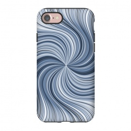 iPhone 8/7  Abstract Wavy Lines In Shades Of Blue by Andrea Haase