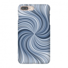iPhone 8/7 plus  Abstract Wavy Lines In Shades Of Blue by Andrea Haase