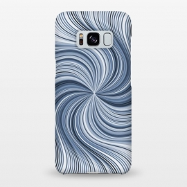 Galaxy S8+  Abstract Wavy Lines In Shades Of Blue by Andrea Haase