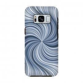 Galaxy S8  Abstract Wavy Lines In Shades Of Blue by Andrea Haase