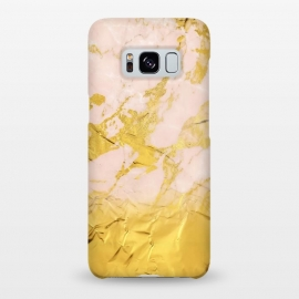 Galaxy S8+  Gold Foil and Pink Marble Glamour by Utart