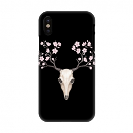 iPhone X  Deer skull black by Laura Nagel