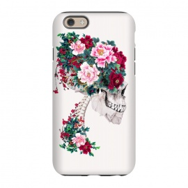 iPhone 6/6s  Skull with Peonies by Riza Peker (skull,flowers,collage,art)