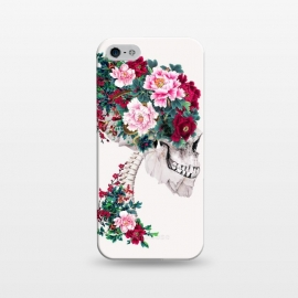 iPhone 5/5E/5s  Skull with Peonies by Riza Peker