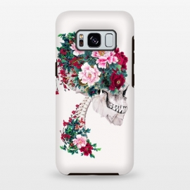 Galaxy S8 plus  Skull with Peonies by  (skull,flowers,collage,art)