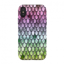 iPhone Xs / X  Pretty Mermaid Scales 119 by Angelika Parker